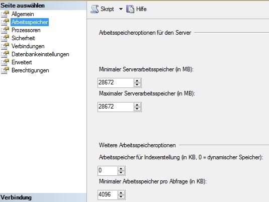 Festlegen der RAM-Nutzung über GUI